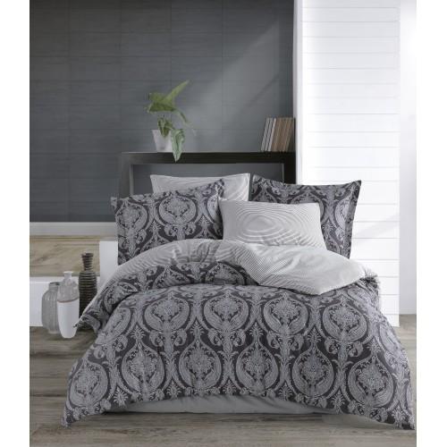 Kokvilnas satīna gultas veļas komplekts  Jacquard 140x200 cm