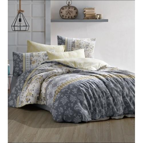 Kokvilnas gultas veļas komplekts Vera 140x200 cm