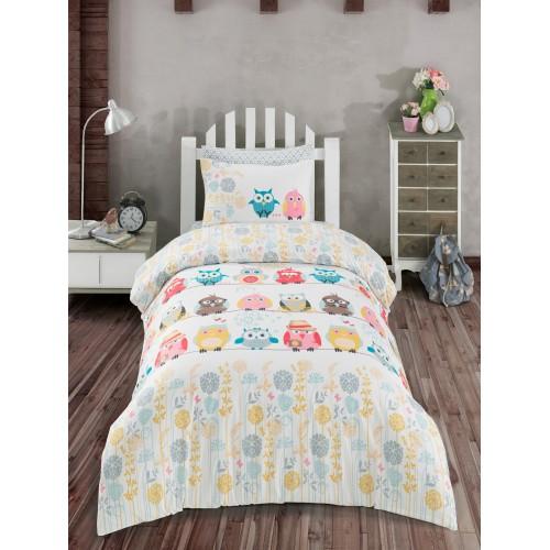 Bērnu gultas veļas komplekts  Owl 100x140 cm
