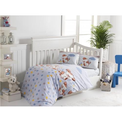 Bērnu gultas veļas komplekts  Puppy 100x140 cm