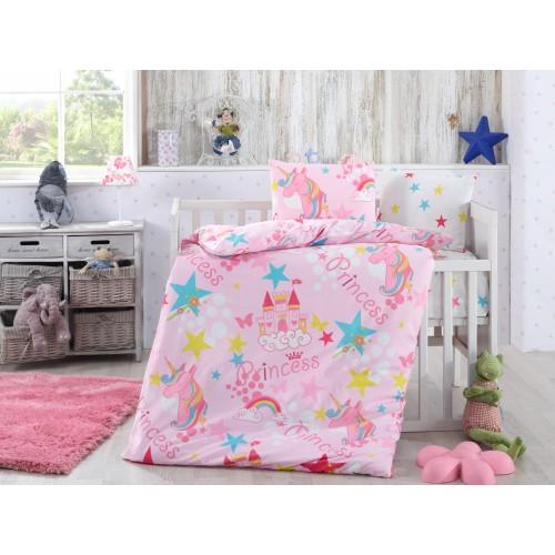 Bērnu gultas veļas komplekts  Stars 100x140 cm