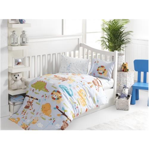 Bērnu gultas veļas komplekts  Zoo 100x140 cm