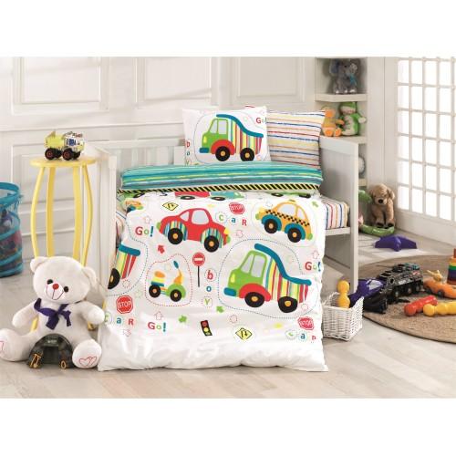 Bērnu gultas veļas komplekts  Cars 100x140 cm
