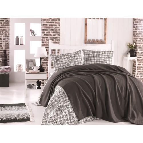 Pleds - gultas pārklājs Anthracite 140x220 cm