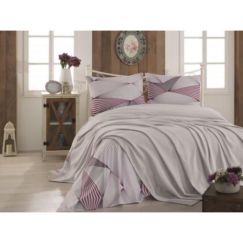 Pleds - gultas pārklājs Grey 140x220 cm