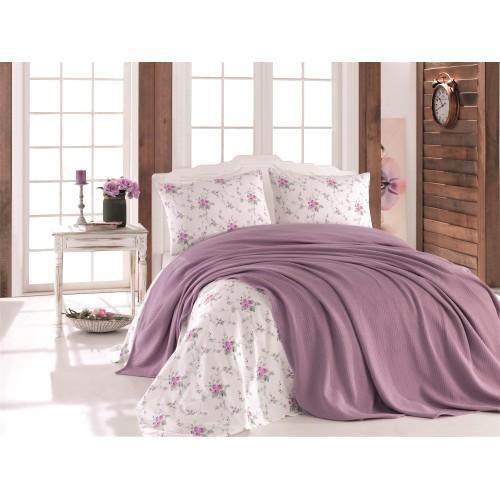Pleds - gultas pārklājs Lilac 140x220 cm