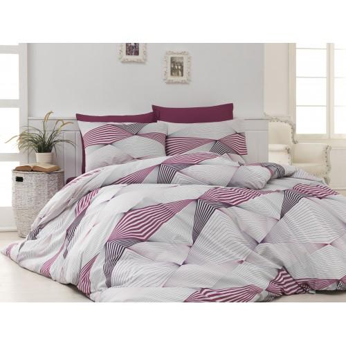Kokvilnas gultas veļas komplekts Break 140x200 cm