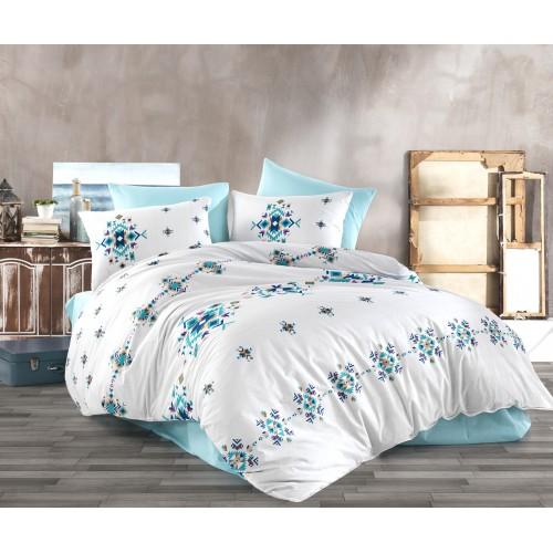 Kokvilnas gultas veļas komplekts Hippi  140x200 cm