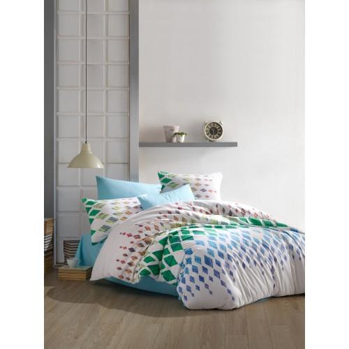 Kokvilnas gultas veļas komplekts  Nadine 140x200 cm