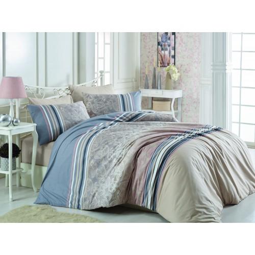 Kokvilnas gultas veļas komplekts Rasti  140x200 cm
