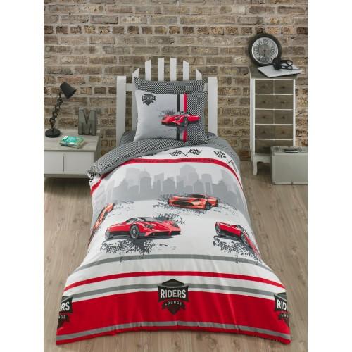 Kokvilnas gultas veļas komplekts Speed 140x200 cm
