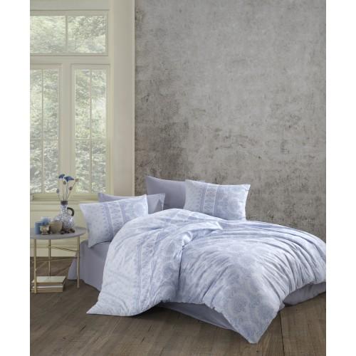 Kokvilnas gultas veļas komplekts  Vio 140x200 cm