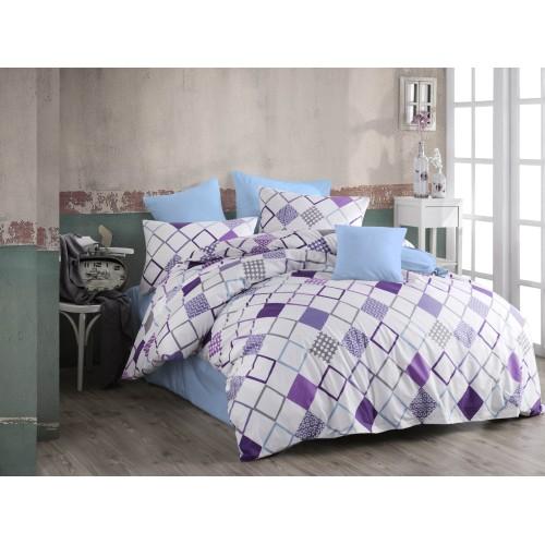 Kokvilnas gultas veļas komplekts  Sion 140x200 cm