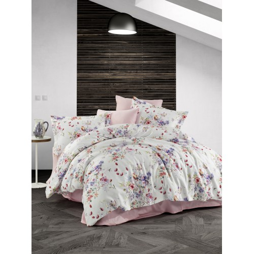 Kokvilnas satīna gultas veļas komplekts  Alice 140x200 cm