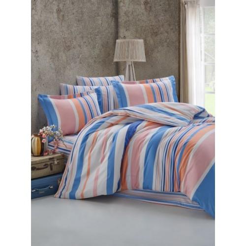 Kokvilnas satīna gultas veļas komplekts  Mart 140x200 cm