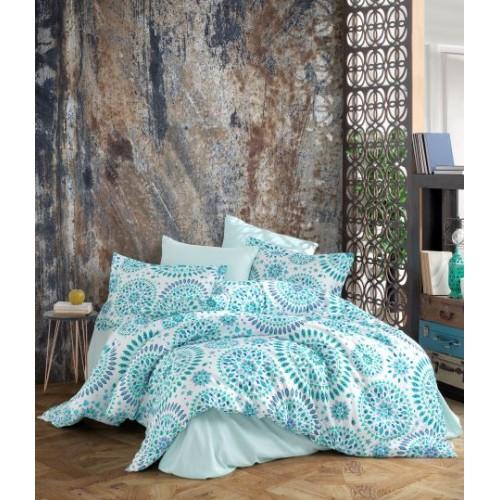 Kokvilnas satīna gultas veļas komplekts  Marta 140x200 cm