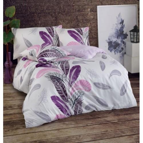 Kokvilnas satīna gultas veļas komplekts  Plume 140x200 cm