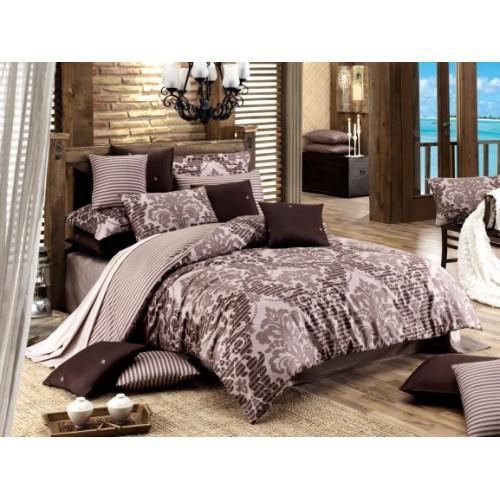 Kokvilnas satīna gultas veļas komplekts  Sultan 140x200 cm
