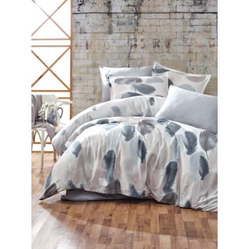 Kokvilnas satīna gultas veļas komplekts  Tuy 140x200 cm