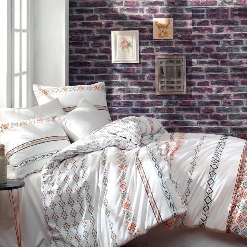 Kokvilnas gultas veļas komplekts Etnico  140x200 cm