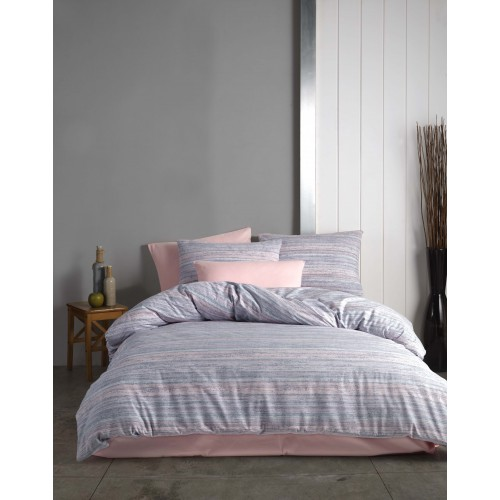 Kokvilnas gultas veļas komplekts Fresia 140x200 cm