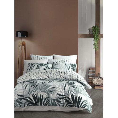 Kokvilnas gultas veļas komplekts Sandy Green 140x200 cm