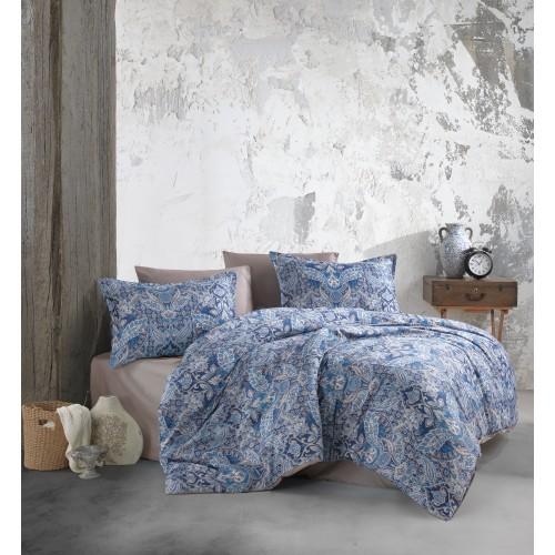 Kokvilnas satīna gultas veļas komplekts  Apollo 140x200 cm