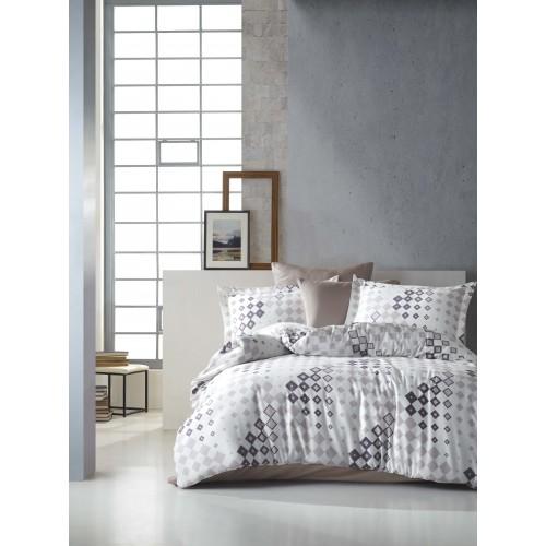 Kokvilnas satīna gultas veļas komplekts  Leodikya 140x200 cm