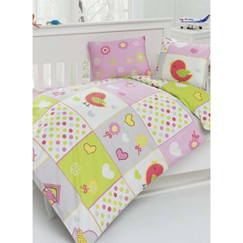 Bērnu gultas veļas komplekts  Bird 100x140 cm