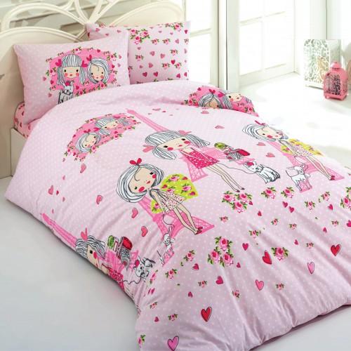 Kokvilnas gultas veļas komplekts She 140x200 cm