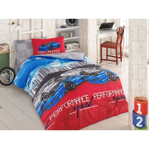 Kokvilnas gultas veļas komplekts Tokyo Drift 140x200 cm