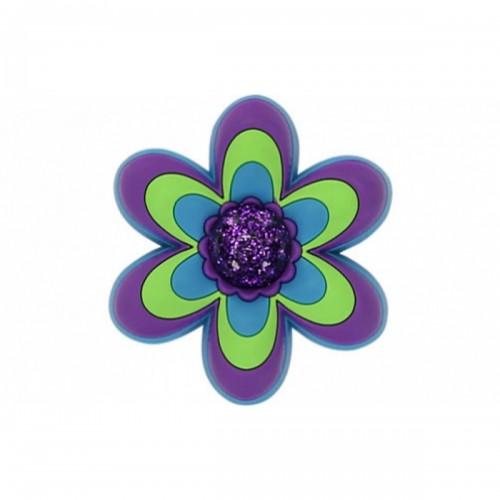 JIBBITZ CFP LG Purple Flower