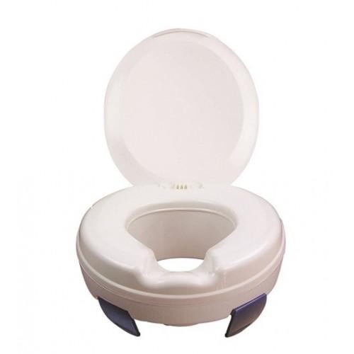 Paaugstinājums tualetes poda sēdeklim ar vāku