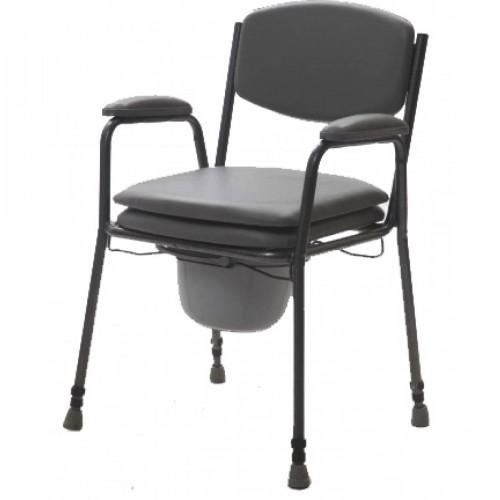 Tualetes krēsls ar polsterētu sēdekli (līdz 130 kg)