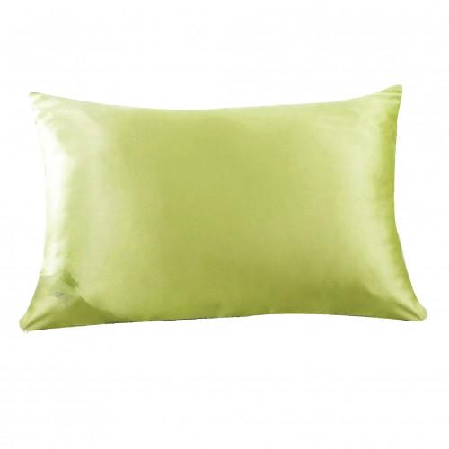 Satin spilvendrāna Apple green