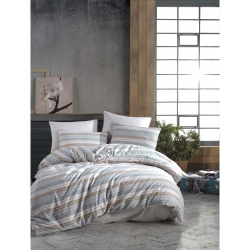 Kokvilnas gultas veļas komplekts Era 140x200 cm