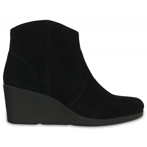 Crocs™ Leigh Suede Wedge Bootie